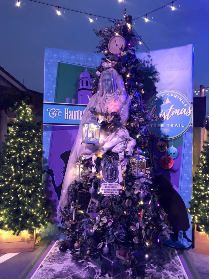 Haunted MansionDisney Christmas Tree Trail at Disney Springs