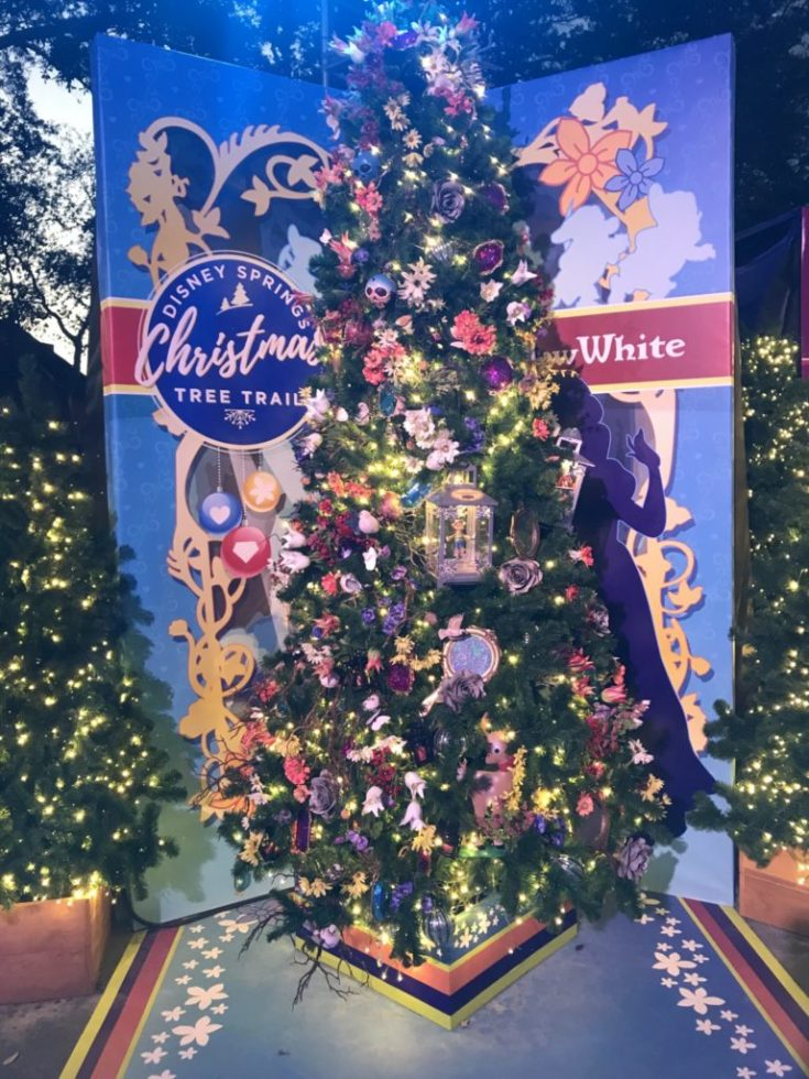 Snow White Disney Christmas Tree Trail at Disney Springs