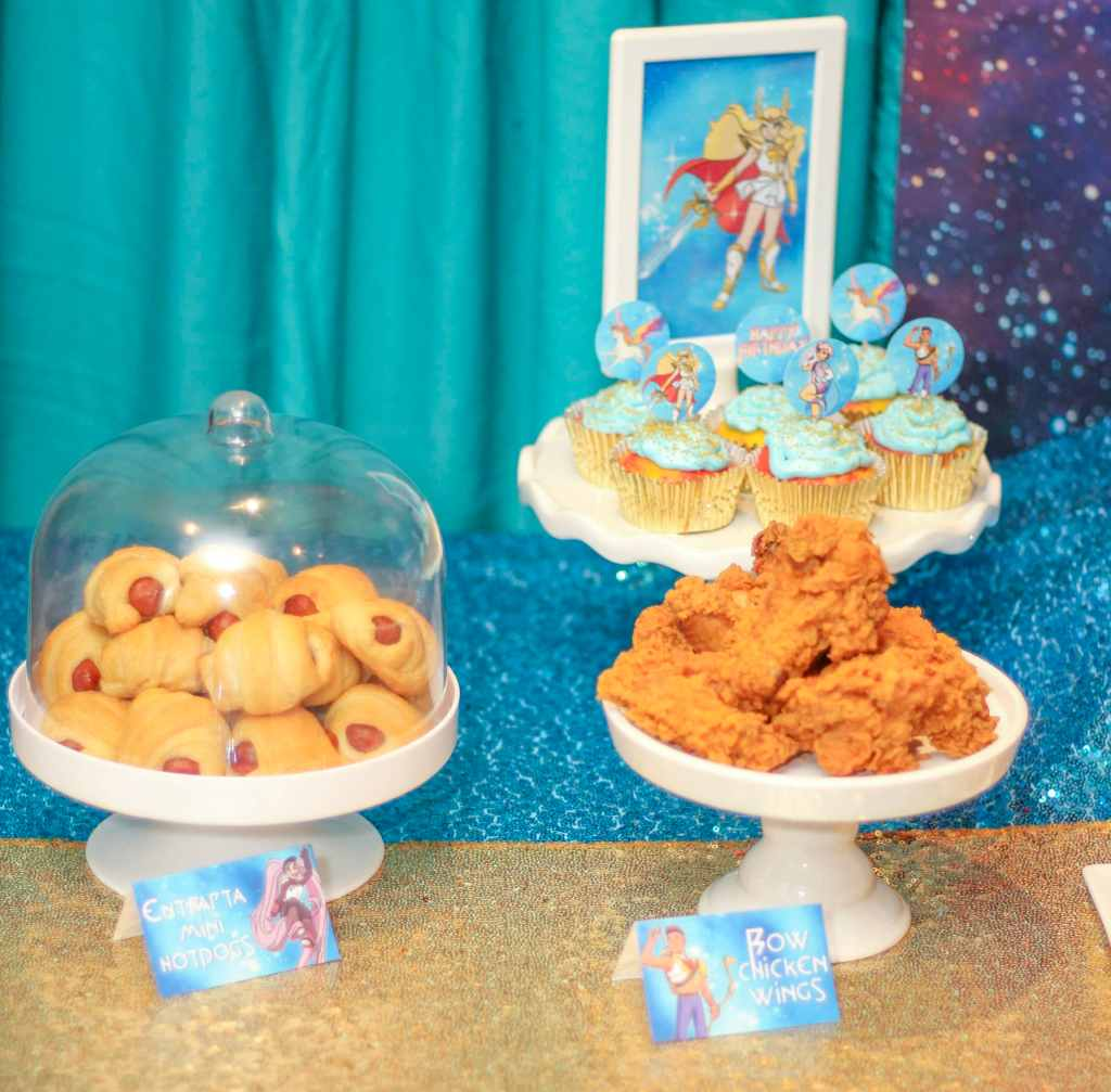 Bow chicken wings She-Ra birthday ideas