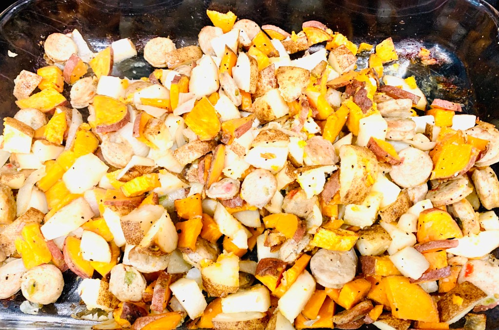 One pan roasted potatoes and sausage recipe