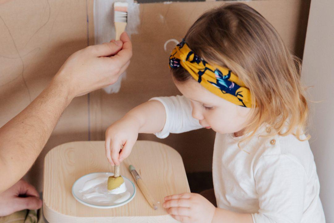 DIY project with preschooler