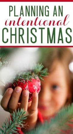 having an intentional Christmas