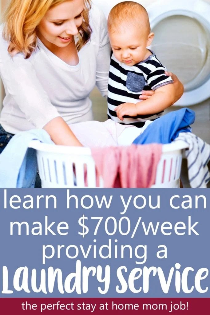 start a laundry business to earn extra income as a stay at home mom