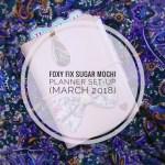 Foxy Fix Sugar Mochi Planner Set-Up (March 2018)