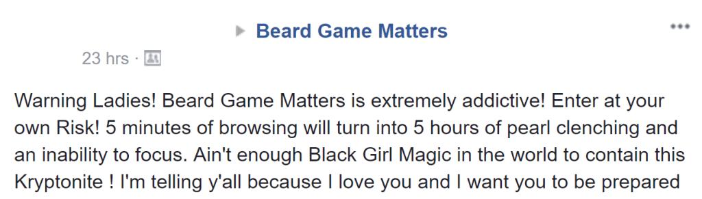 beard game matters