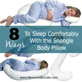 snoogle body pillow 8 ways to sleep