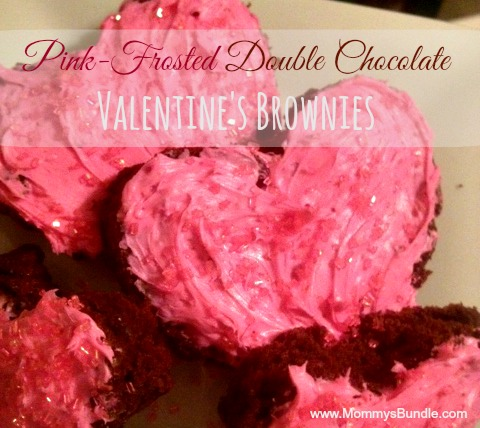 Pink Frosted Double Chocolate Valentines Brownies Mommy
