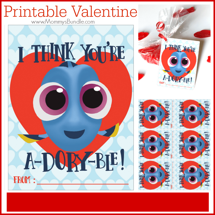 Finding Dory Valentine Free Printable Mommys Bundle
