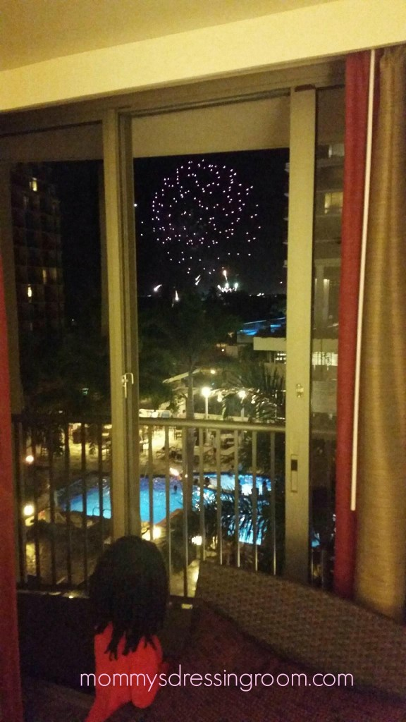 Hilton Waikiki Village Fireworks Embassy Suites Beachwalk
