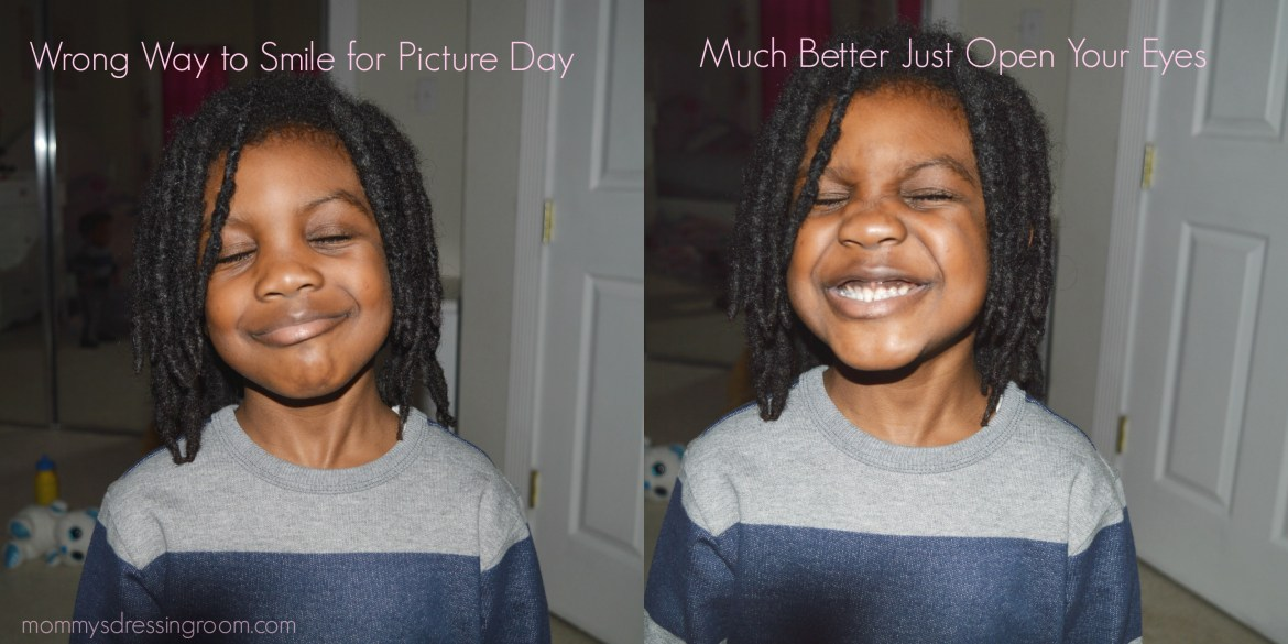 smiling, picture day, daycare, kindergarten