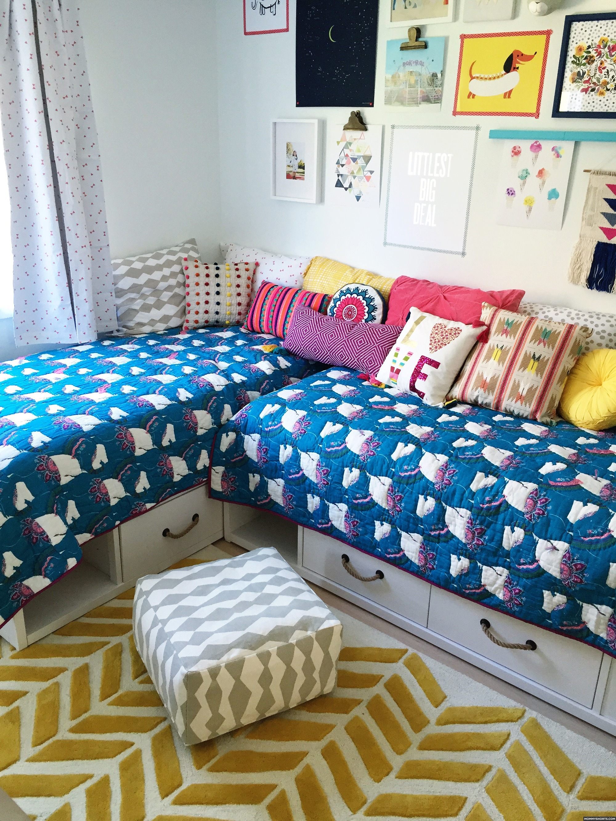 A Modern BOHO Bedroom for Mazzy and Harlow - Mommy Shorts on Boho Modern Bedroom  id=86715