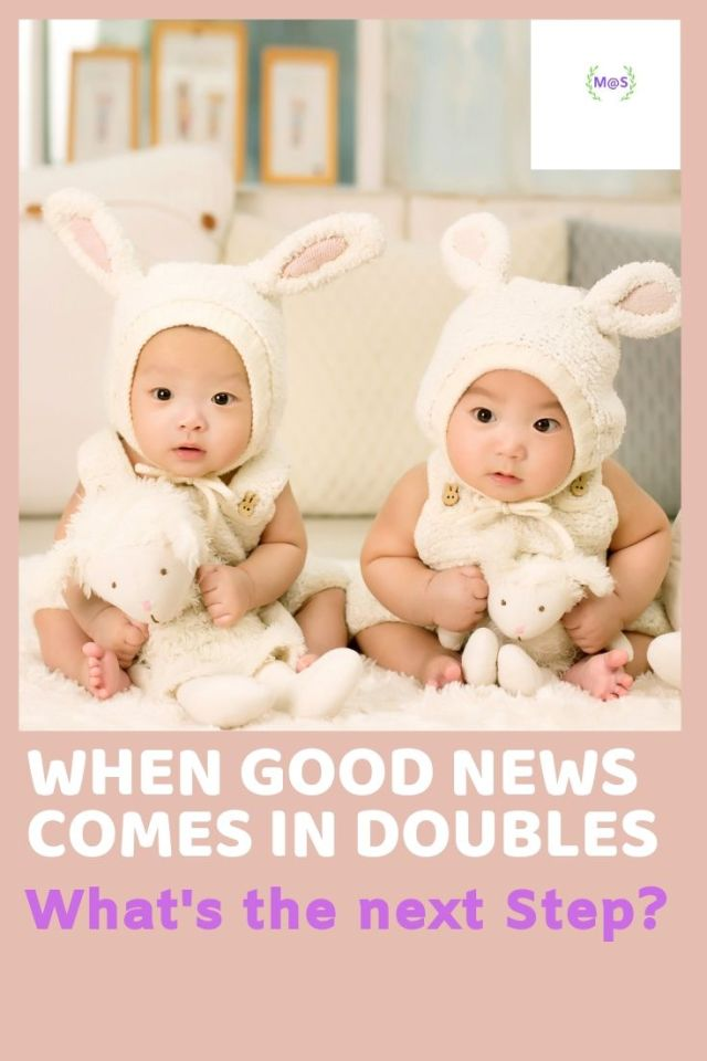 Good News comes in Doubles, Twins, Twin Babies, Babies, Baby Products, Latest Deals, shravmusingswrites