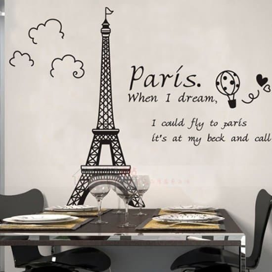 Amazing Paris Vinyl Wall Decal