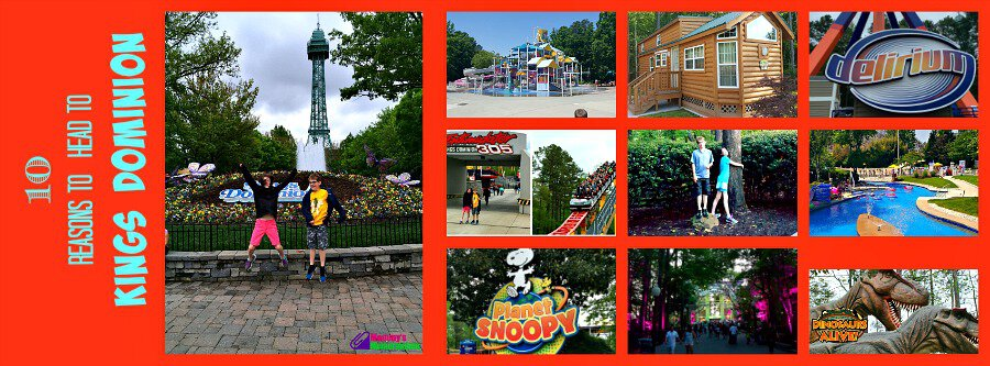 10 reasons to head to kings dominion Collage