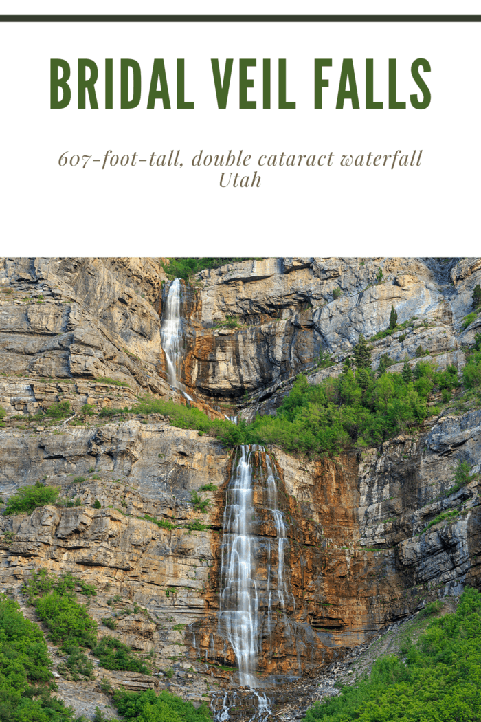"""This607-foot-tall,doublecataract waterfall use to have what was oncedeemedthe """"world's steepest aerial tramway""""."""