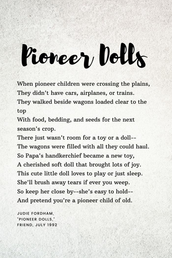 """Judie Fordham, """"Pioneer Dolls,"""""""