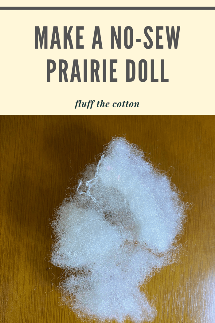 Fluff up your cotton balls (they will be the head)