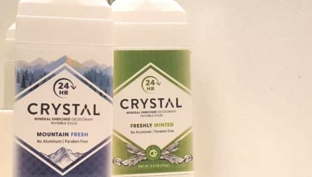 Crystal offers a mineral-enriched deodorant that offers awesome protection and glides on like a deodorant stick.