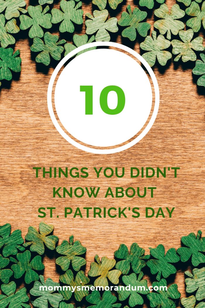 Here're some fun facts you probably didn't know regarding St. Patrick's Day: