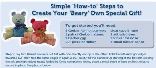 beary craft, baby shower craft gift idea