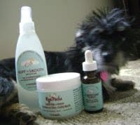 Bailey Mae is our furry canine princess. She is pampered beyond spoiled. She's even indulging in spa treatment thanks to HappyTails Canine Spa Line.