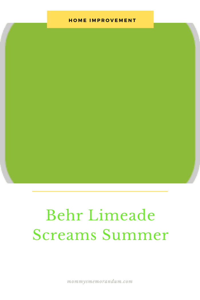 "I usually lean toward neutral colors but for the chairs, I wanted a color that screamed, SUMMER, so I chose ""Limeade"" in an exterior satin, by Behr paints."