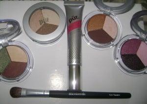 PUR minerals eye shadow trios