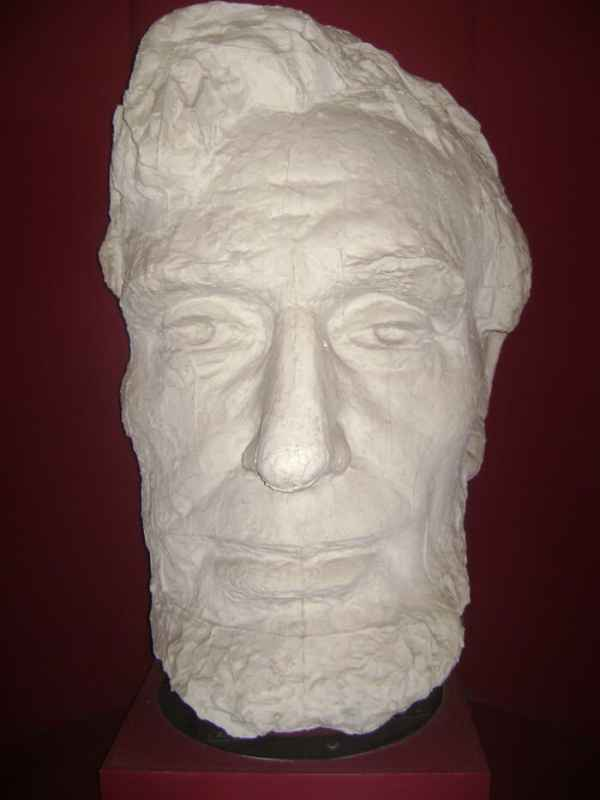 The plaster mask of Lincoln