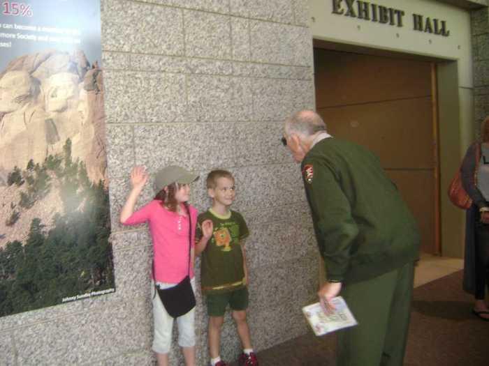 Being sworn in as Mount Rushmore Jr. Rangers