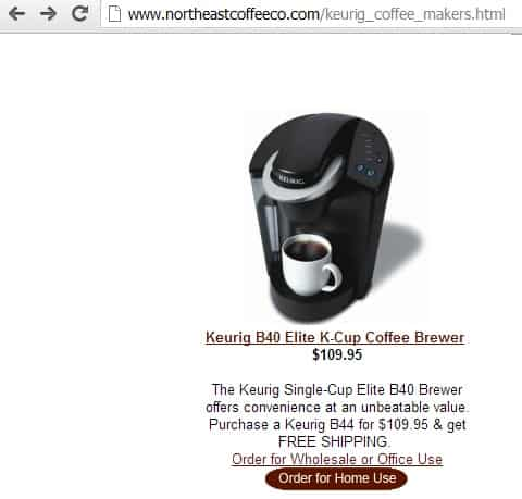 Northeast Coffee Keurig B40