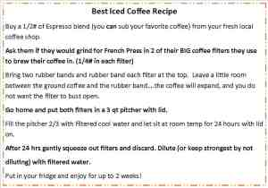 ice coffee recipe