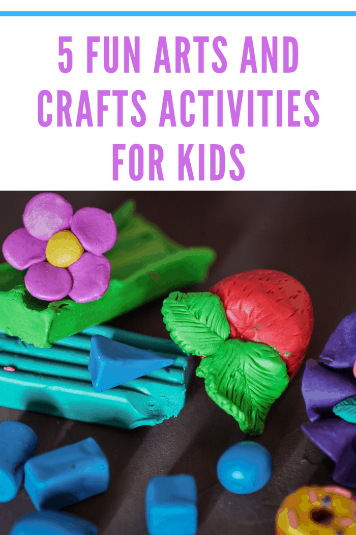 Clay is another great tactile art and crafts experience.