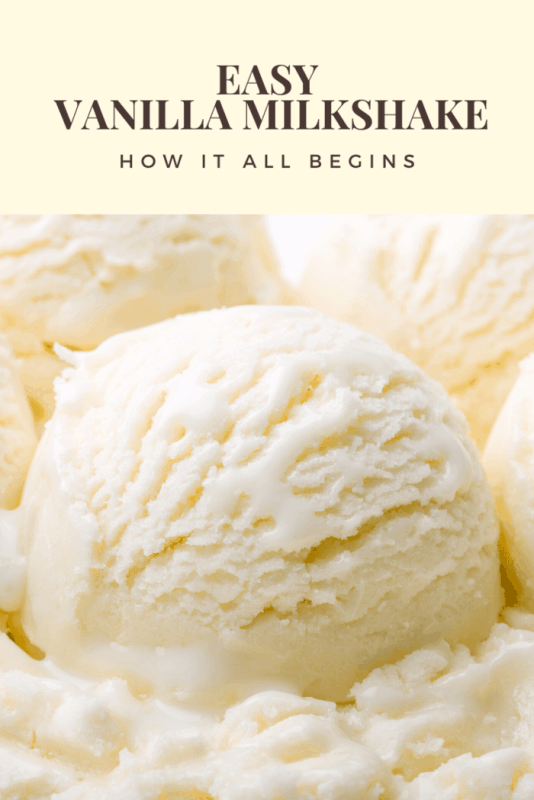 Let's face it, the vanilla milkshake is one of the most popular milkshakes in the universe. And to think it all begins with basic vanilla ice cream.