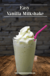 Looking for an Easy Vanilla Milkshake Recipe for that craving or delicious dessert? This milkshake recipe is a keeper. It's so easy,