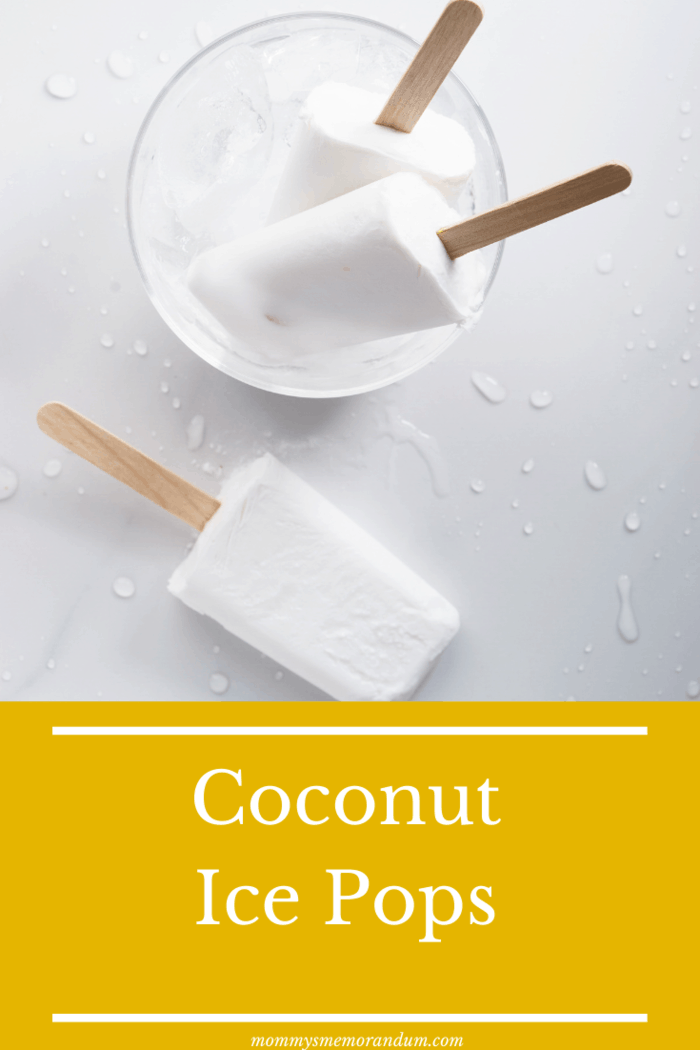This coconut ice pops recipe uses just two ingredients to create a creamy, frozen confection.