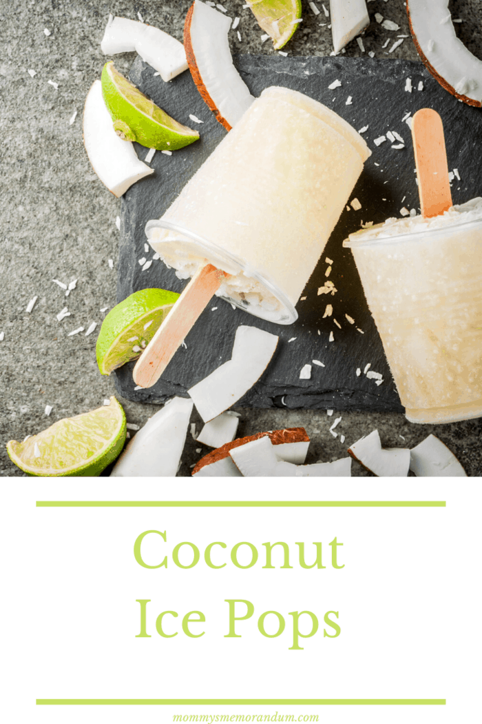 These coconut ice pops are light in flavor and still capture the convenience of a popsicle.