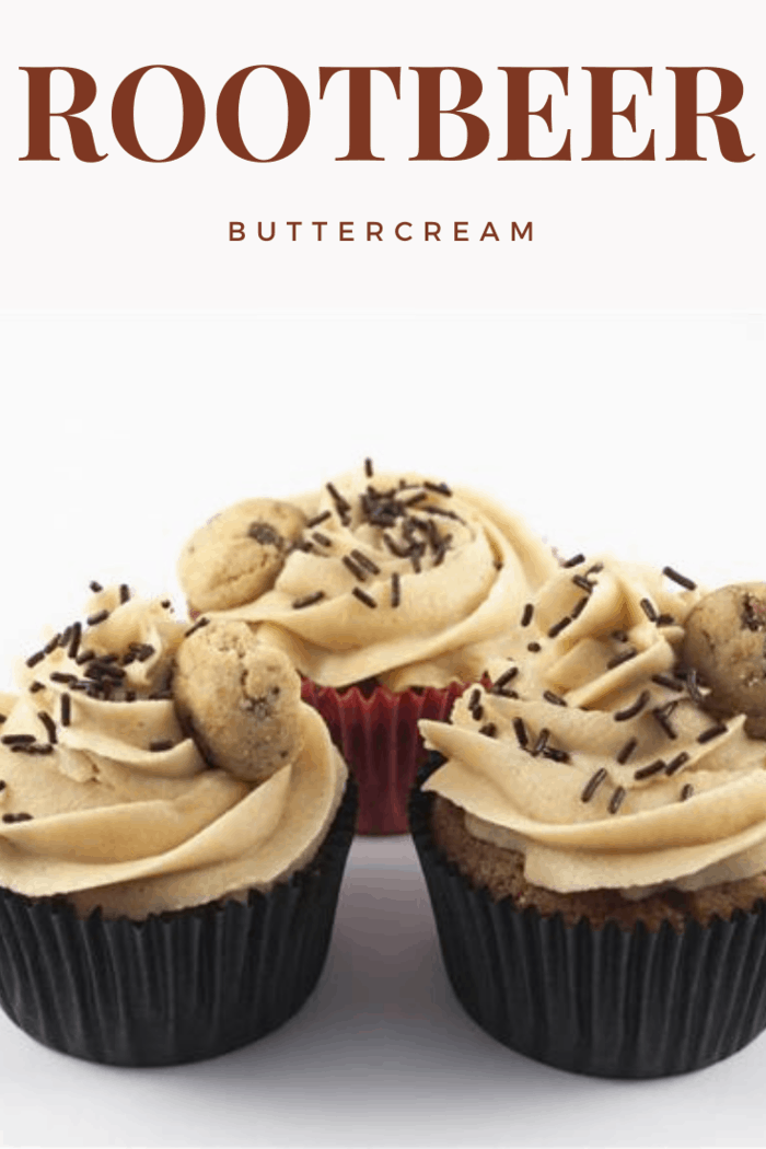 cupcakes with root beer buttercream frosting