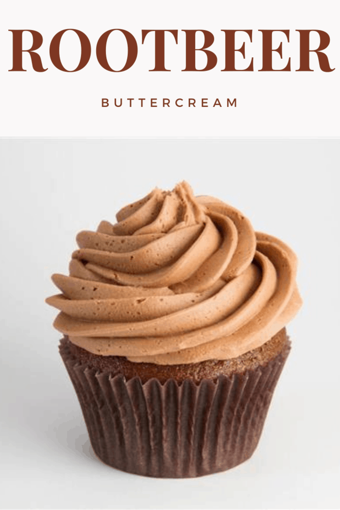 root beer cupcake with root beer buttercream icing
