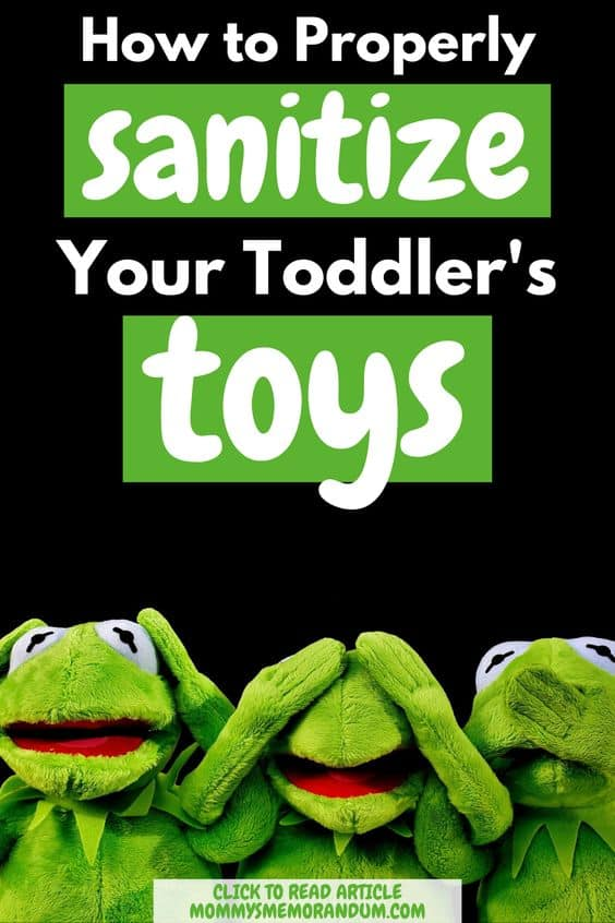 it's so important that you sanitize their toys on a continual basis