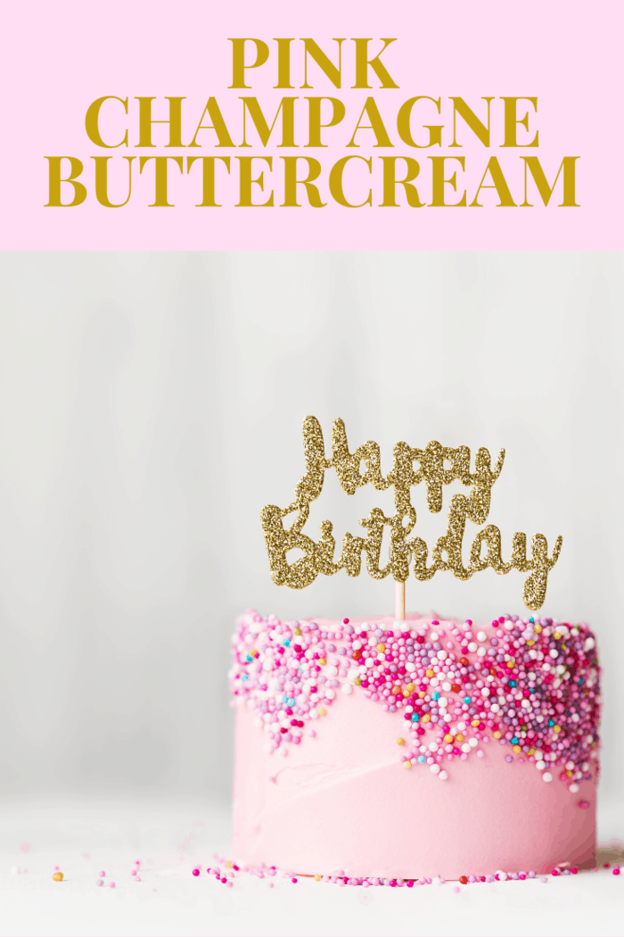 It takes no time to make this delicious Pink Champagne Buttercream and the results are an impressive one.