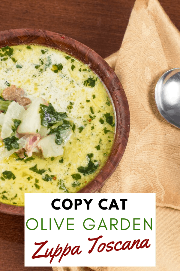 Looking for Olive Garden's soup recipe? We've cracked Olive Garden's recipe for Zuppa Toscana! It might be better than the original. #zuppatoscana #copycatzupatoscana #copycatolivegarden #olivegardenzuppatoscana