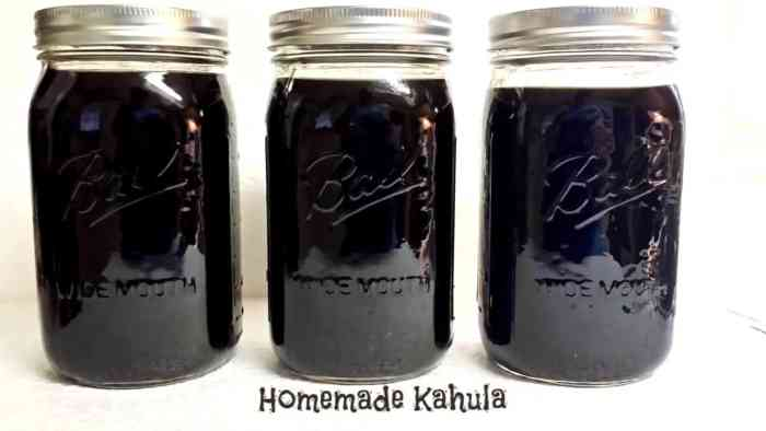 homemade kahula without label