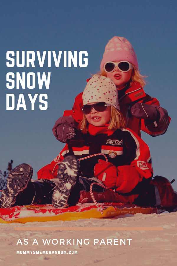 Here are a few tips to Find Snow Day Success as a Working Parent