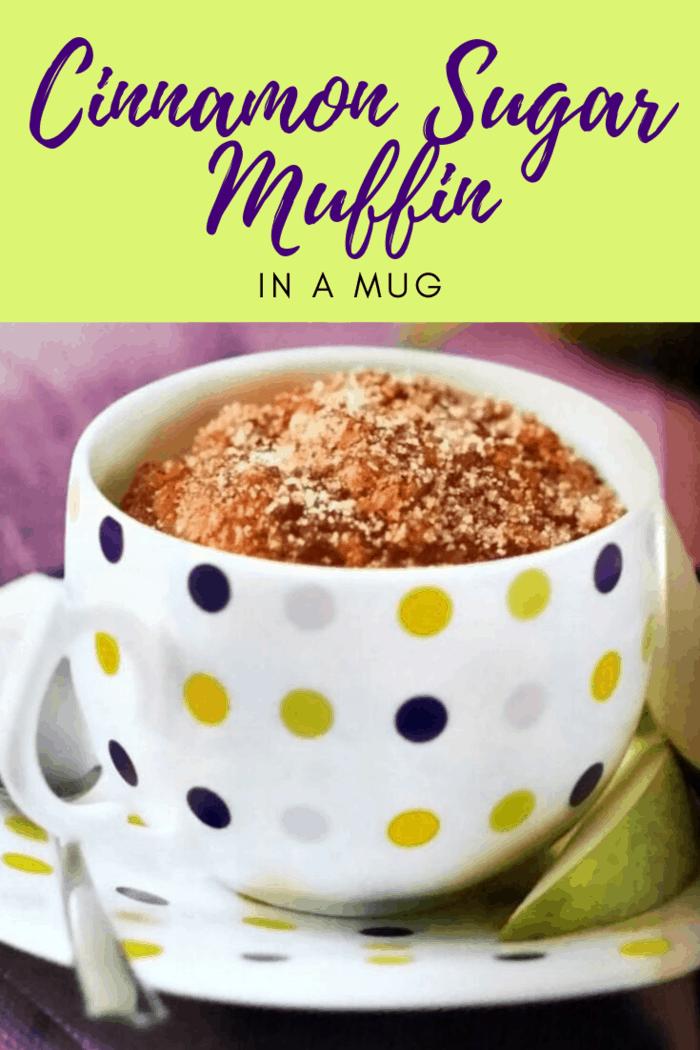 Cinnamon Sugar Muffin in a Mug