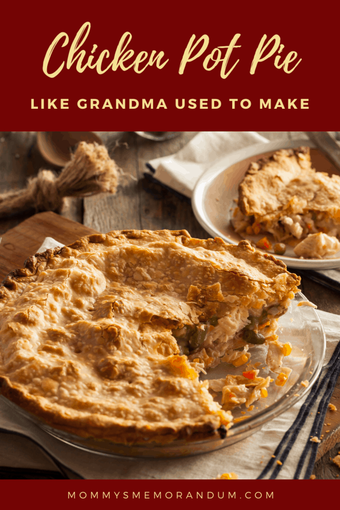 From Fall to Spring this Easy Homemade Chicken Pot Pie is comfort food. It's food like Grandma used to make with the mixture of meat and vegetables in a savory sauce.