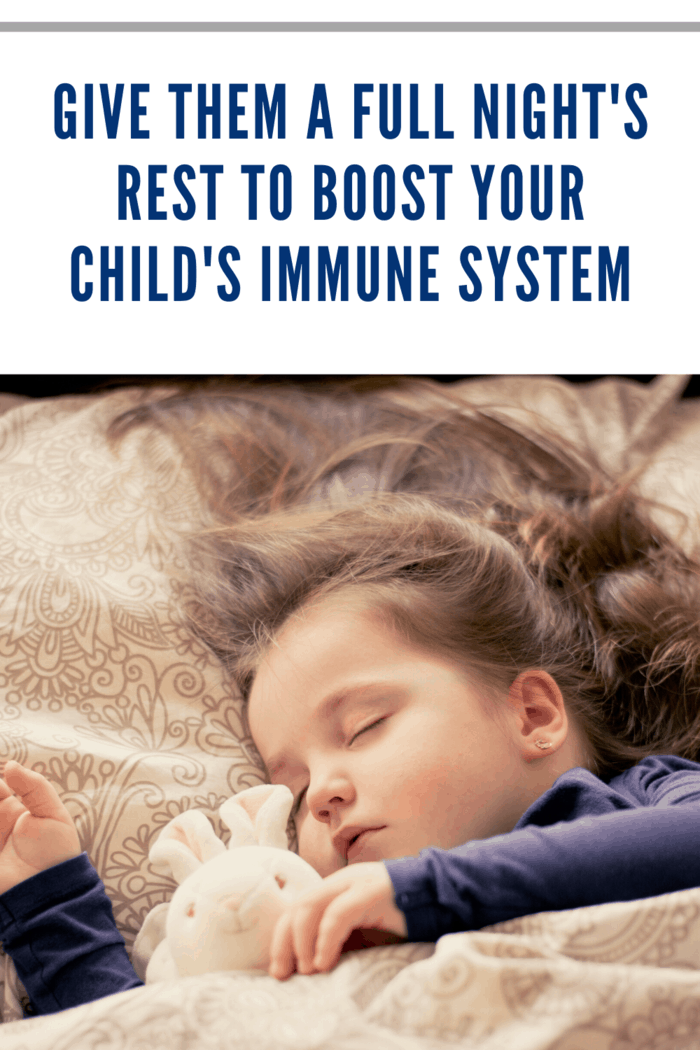 A full eight hours of rest each night (or more, depending on the age of a child) not only ensures that your kids will be able to focus and retain information throughout the day, as well as avoid the irritability and fatigue that often accompany a sleep deficit, but it also gives their bodies the best chance to fight infections.