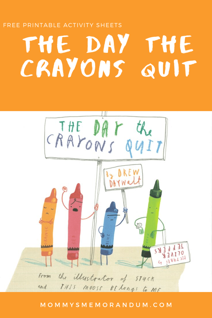 come in for a special storytime the day the crayons quit free printable activity sheet