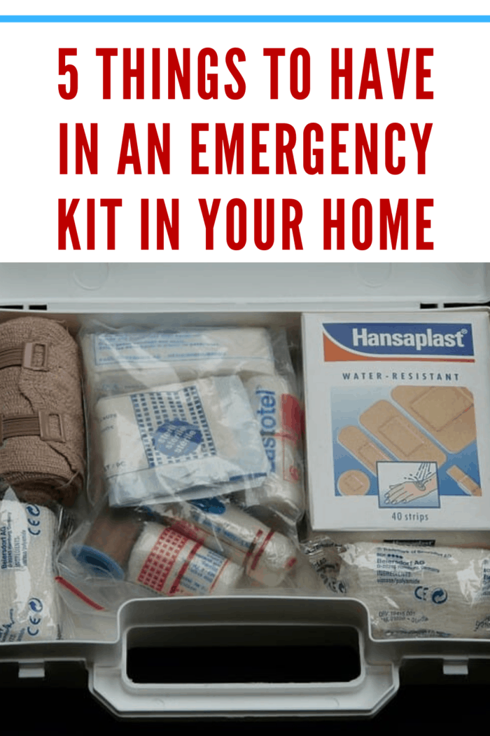 emergency kit to have in an emergency kit in your home