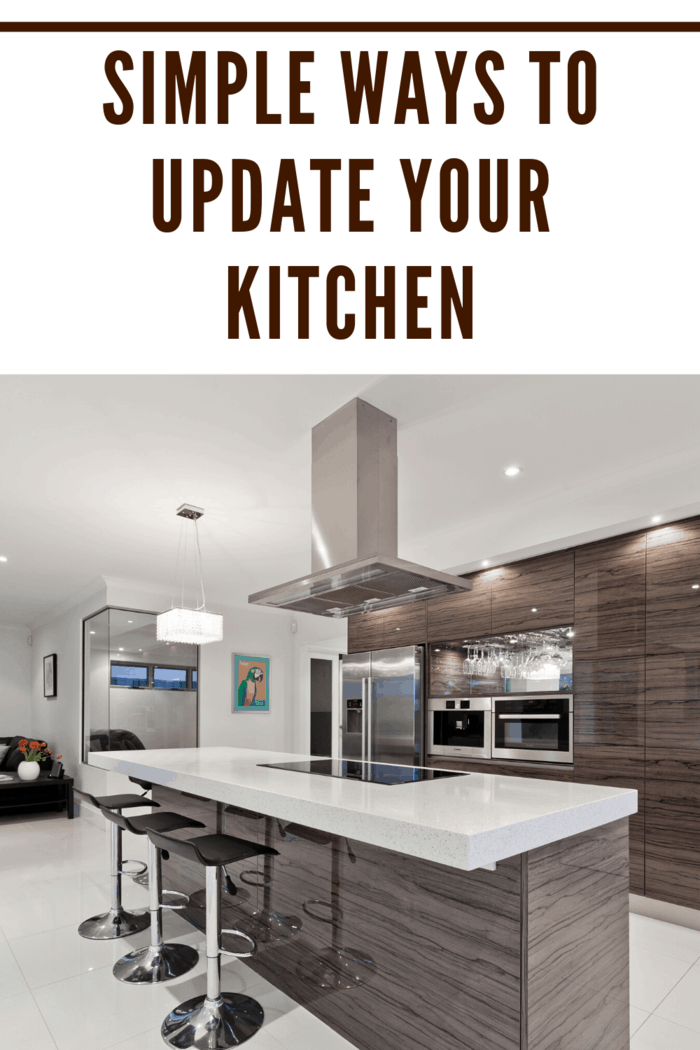 A simple fix that actually goes a long way is in updating the hardware in your kitchen, such as new handles and pulls.
