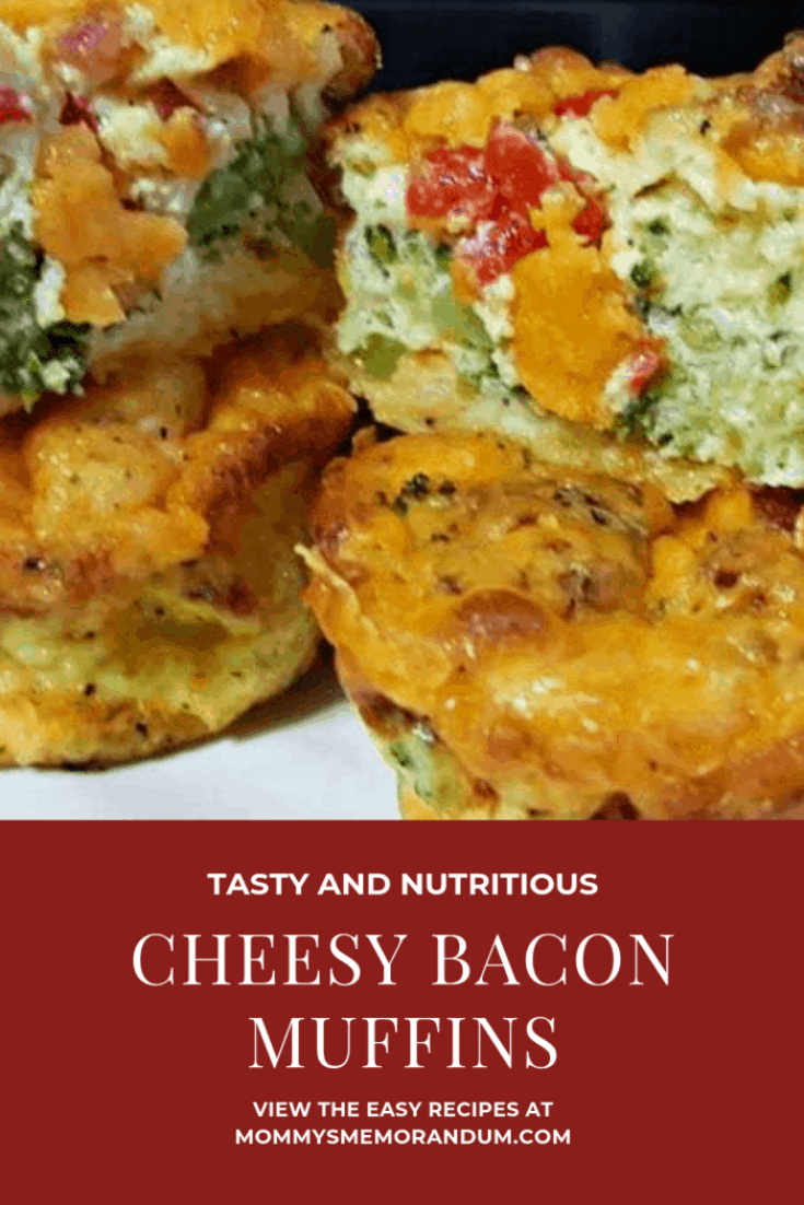 "This Cheesy Breakfast Bacon Muffins recipe is versatile. We call them muffins, but you can make this recipe in an 8""x8"" pan and it's a cheesy breakfast bacon frittata, add a crust to the pan before the egg mixture and you have a cheesy breakfast bacon quiche!"